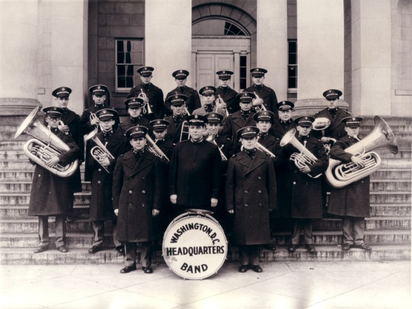 The earliest known photograph of the National Capital Band, taken in 1926.